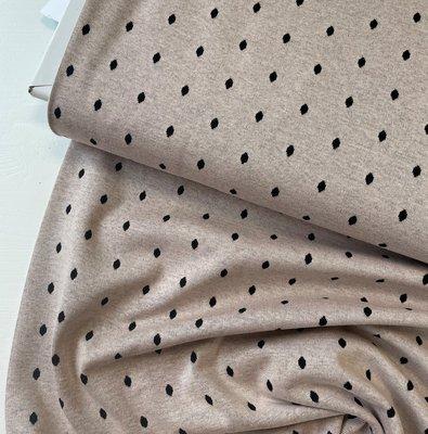 Stoffonkel - Organic JACQUARD dots missy brown €23,80 p/m GOTS