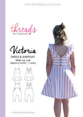 Threads by Caroline VICTORIA JUMPSUIT & DRESS mt74-146 €18