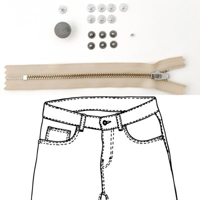 KYLIE & THE MACHINE - REFILL JEANS KIT BEIGE/PEWTER 19 €12,90