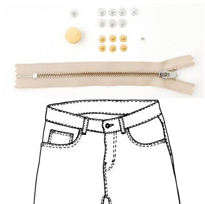 KYLIE & THE MACHINE - REFILL JEANS KIT BEIGE/GOLD 15 €12,90