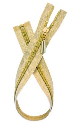 Deelbare gouden rits visgraad 60cm €9,50