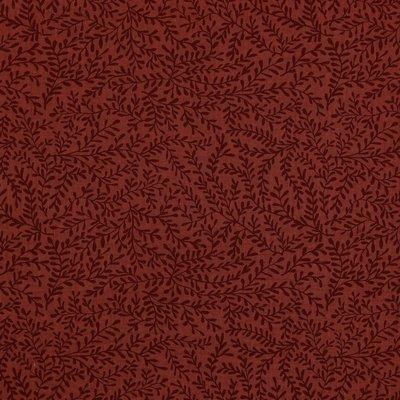 Verhees GOTS  - LEAFS BORDEAUX - Double Gauze/hydrofiel €9,90 p/m (GOTS)