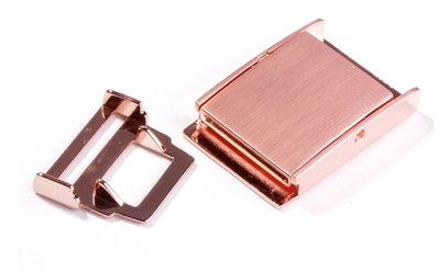 Ceintuur/tas en siergesp 25 mm koper/rose gold - €5,99 per stuk