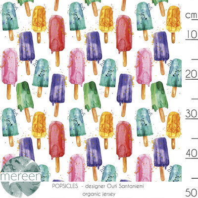 COUPON 65CM Mereen - Popsicle color €24,90 p/m jersey (organic)