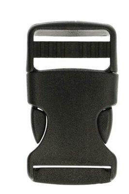 Kunststof klikgesp 30mm 1,25 p/s