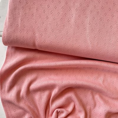 Hilco - Pointelle Rose €14,50 p/m OEKOTEX