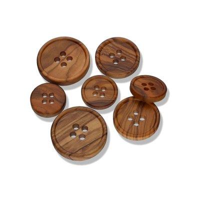 Olive Wood - rand houten knoop vanaf:  €0,60 p/s
