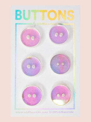 Tabitha Sewer - Circle iridescent buttons 15mm €9,50 p/set