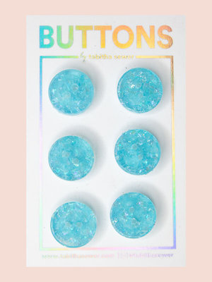 Tabitha Sewer - Ice blue buttons 15mm €9,50 p/set