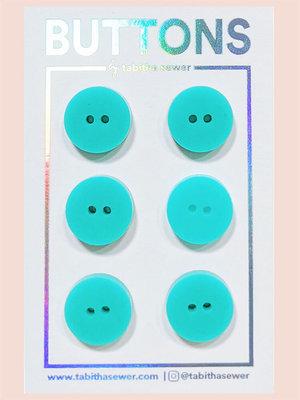 Tabitha Sewer - Aqua Classic buttons 15mm €9 p/set