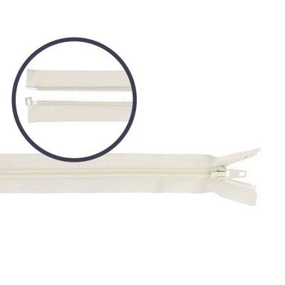 Deelbare spiraal rits 70cm  CREME €5,50