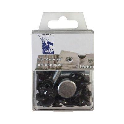 MMJZ Drukknoop Pewter15mm - €5,35 p/s
