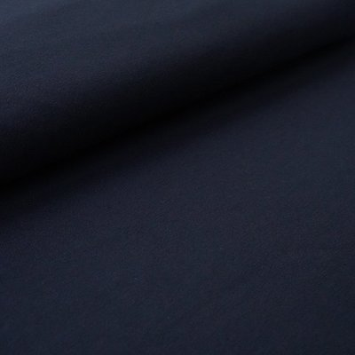 COUPON 90 CM Stoffonkel -  French terry DARK BLUE €19,90 p/m (GOTS)