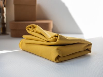 mindtheMAKER - washed COTTON TWILL yellow 9oz €19,90 p/m