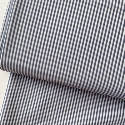 Ecological Textiles - Blue/white Fine stripes poplin €22,50 GOTS