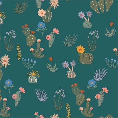 Cloud 9 -  Prickly florals WOVEN COTTON €21,50 p/m (biokatoen)