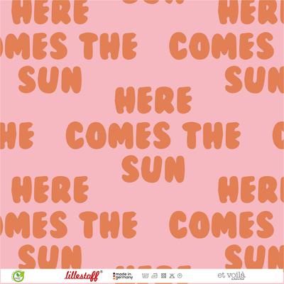 COUPON 60cm Lillestoff - Retrosummer Big Pink SUMMERSWEAT €21,80 p/m GOTS