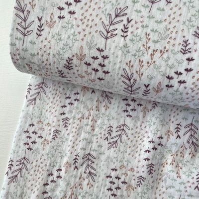Purple twigs - Double Gauze/hydrofiel €12,50 p/m
