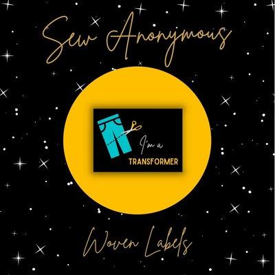 Sew Anonymous -  I'm a Transformer labels €6,50 per set