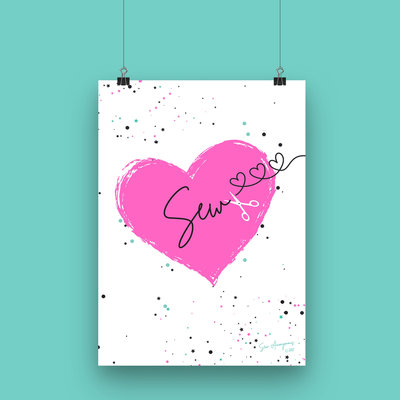 Sew Anonymous -  Poster A4 SEW €16,50 p/s