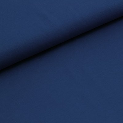 COUPON 38CM Stoffonkel Solid marine blue JERSEY - €16,80 p/m GOTS