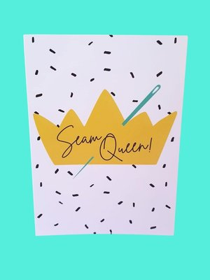 Sew Anonymous -  Kaart Sew Queen €3,50 p/s