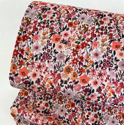 Verhees GOTS  - Colorfull flowers - Double Gauze € 12,90 p/m (GOTS)