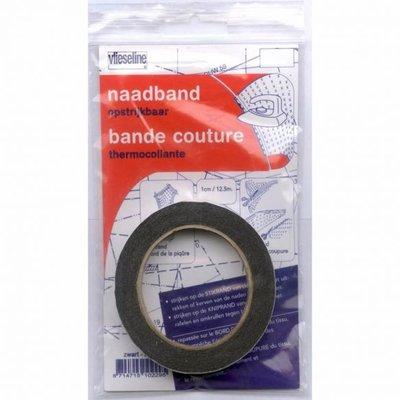 Vlieseline naadband 10mm zwart €2,45 p/stuk