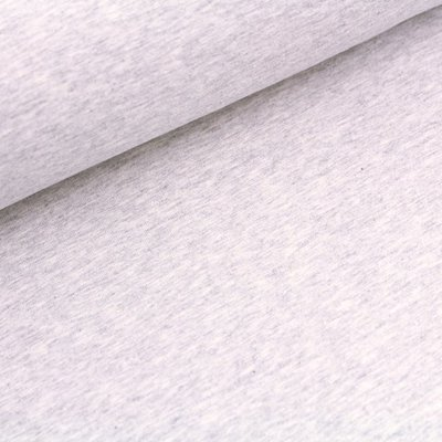 COUPON 40 CM Stoffonkel -  French terry GREY MELANGE €19,90 p/m (GOTS)
