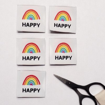 Ikatee -  Happy woven labels €6 per set