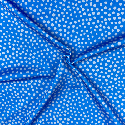 Fossan -  Stone Dots Blue  Lycra  €27,90 p/m