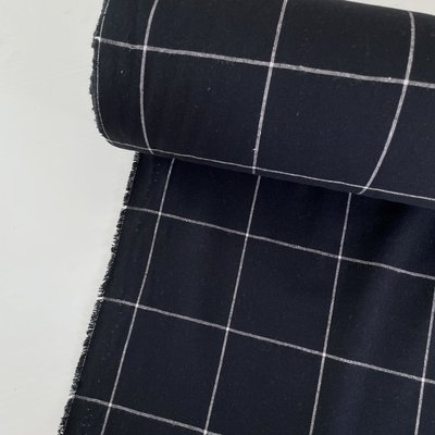 Green Recycled Textiles - Black Grid COTTON €29,90 p/m