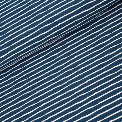 Stoffonkel water by night stripes  JERSEY €21,80 p/m GOTS