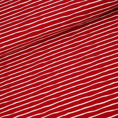 Stoffonkel cherry stripes  JERSEY €21,80 p/m GOTS