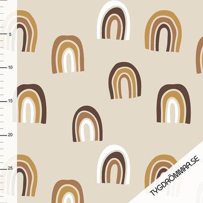 Tygdrommar - JERSEY Rainbow Sand/Sandstorm € 23,- p/m (GOTS)