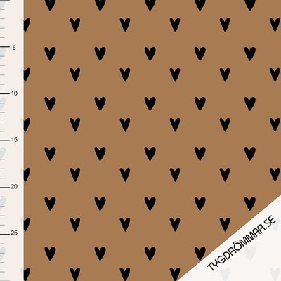 Tygdrommar - JERSEY Hearts-Sandstorm € 23,- p/m (GOTS)