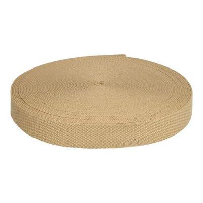 Beige Keperband tassenband extra stevig 25mm €1,75 p/m