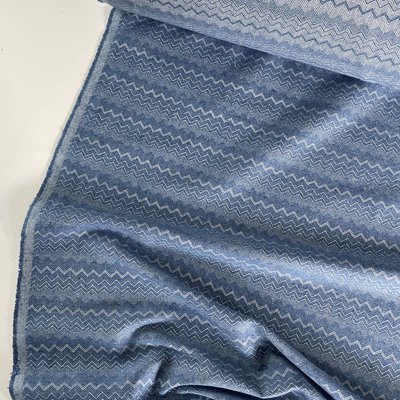 Green Recycled Textiles - Zigzag blue €33,90 p/m