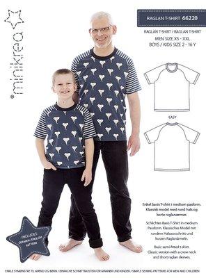 Minikrea Men/Boys raglan shirt XS-XXL & 2-16y 66220