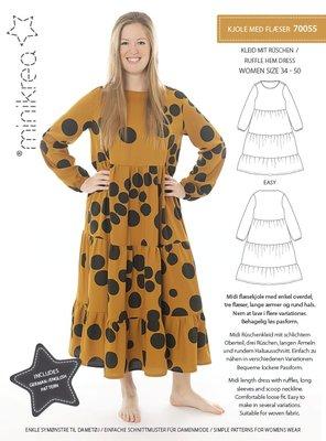 Minikrea Dames Ruffle Hem dress 70055