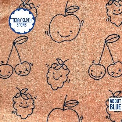 About Blue spons/Terry Cloth Happy Fruit  22,99 p/m GOTS