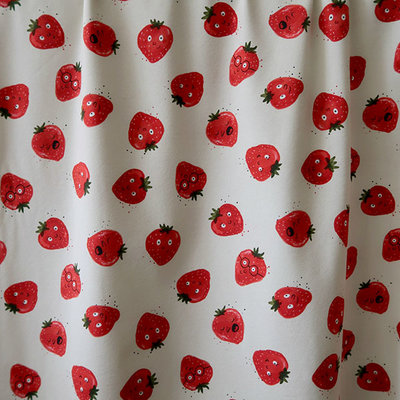 COUPON 30CM Mieli Design - Strawberries JERSEY €25,50 p/m (organic)