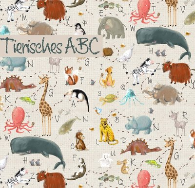 Lillestoff - Animals ABC SUMMERSWEAT €21,80 p/m GOTS