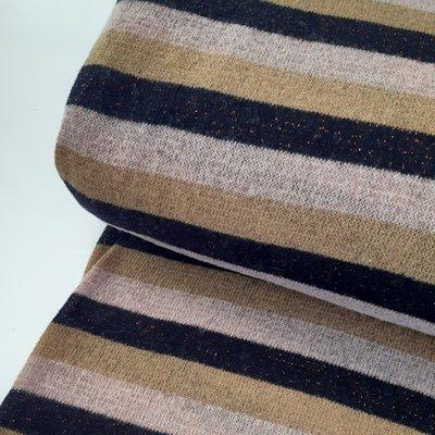 Knipmode - Lurex stripes pink KNITTED  €19,90
