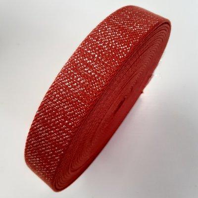 Tassenband CORAL - SILVER LUREX 30mm €4 p/m