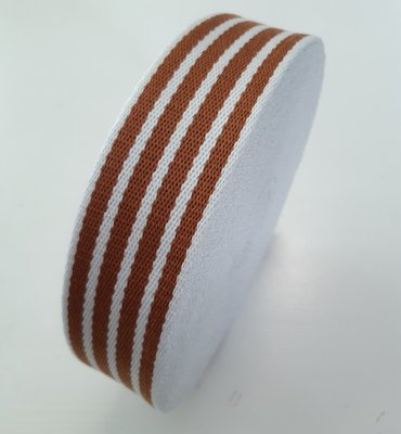 Tassenband ECRU Cinnamon Stripes 40mm €5,5p/m