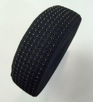Sierelastiek - BLACK EMBOSED 60mm €4,80 p/m