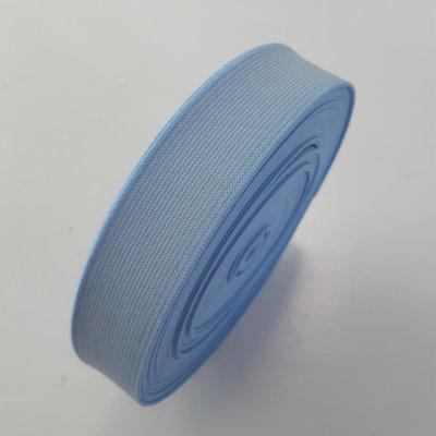 Sierelastiek - LIGHT BLUE-OFF WHITE STRIPE 25mm €3 p/m