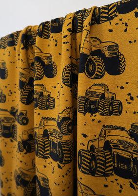 Mieli Design - Vroom mustard  French Terry  €25,50 p/m (organic)