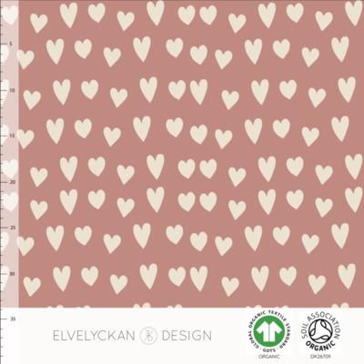 Elvelyckan  - Hearts Blush Pink 51 JERSEY €23 p/m